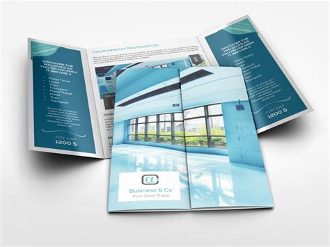 gate fold brochure templates best professional templates