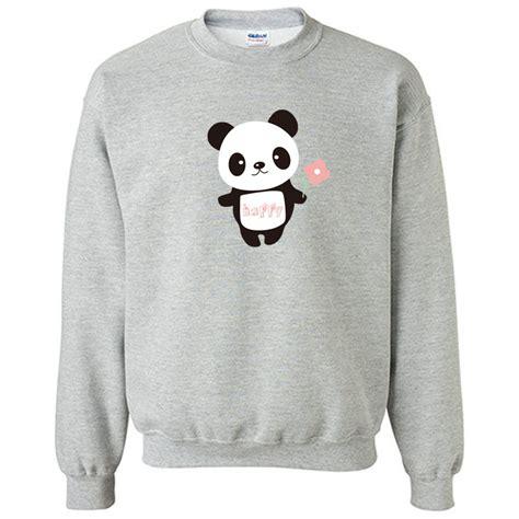 Jaket Hodie Footpint Panda panda hoodie animal sweatshirt diy print unisex