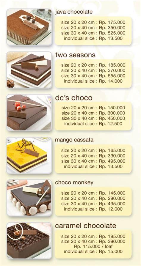daftar harga kue  dapurcokelatcom