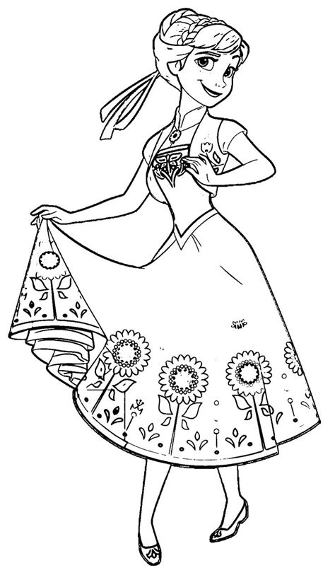 39 anna from frozen coloring pages download coloring page