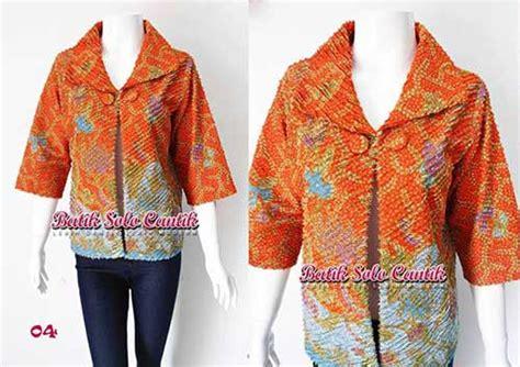 Kain Dobbi 2 bolero batik model iris cacah baju kerja batik
