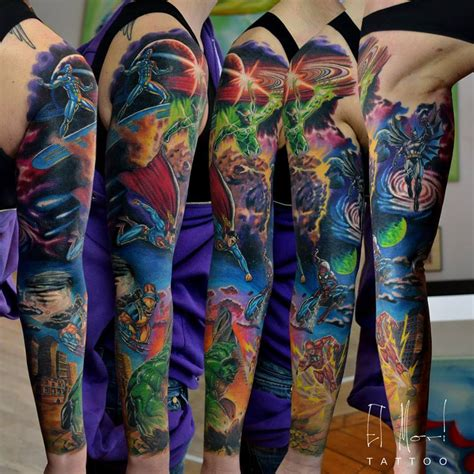 batman gauntlet tattoo superhero sleeve by el mori on deviantart