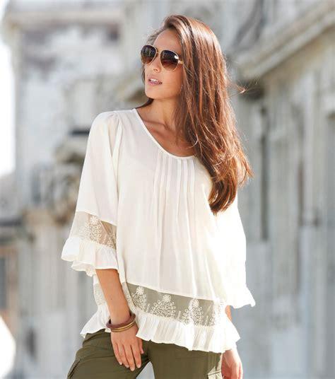 imagenes de blusas blancas con encajes blusas de moda para mujer