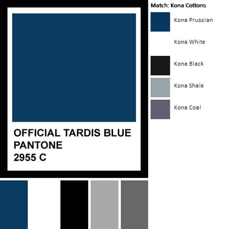official tardis blue color palette flickr photo