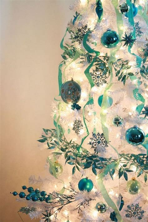 Teal Decorations by Tree Decorations Teal Decorating