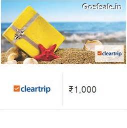 Amazon E Gift Card For Sale - rs 1000 cleartrip e mail gift card rs 750 amazon feb offers 2018 february