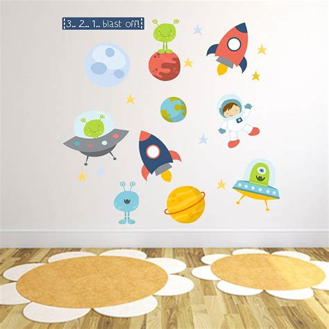 space wall stickers space fabric wall stickers by littleprints