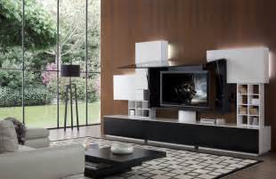 Floor And Decor Miami K139a Modern Black And White Entertainment Center