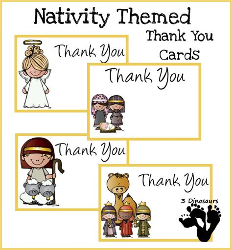 nativity card template word free nativity themed thank you cards 3 dinosaurs