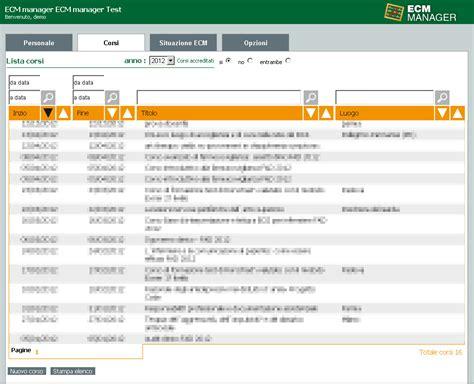 dati ecm ecm manager software di calcolo e gestione dei crediti