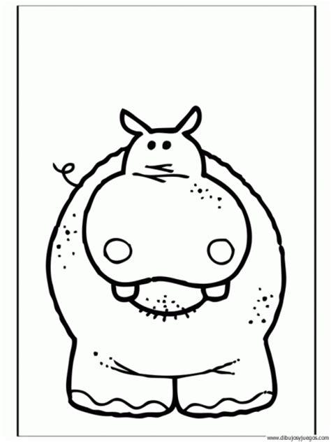 imagenes para colorear hipopotamo un hipopotamo para colorear imagui