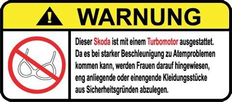Lustige Autoaufkleber Opel by Skoda Turbo Motor German Lustig Warnung Aufkleber Decal