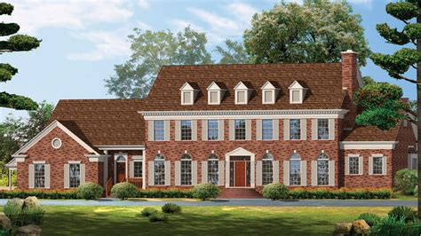 Symmetrical Floor Plans Georgian Home Plans Georgian Style Home Designs From