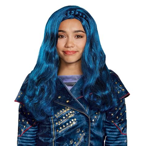 Evie The by Disney Descendants Evie Isle Look Blue Wig Jet