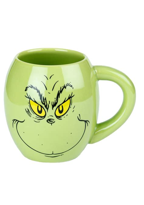 Dr. Seuss Grinch Ceramic Oval Mug