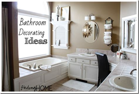 ideas to decorate bathrooms 7 bathroom decorating ideas master bath finding home farms