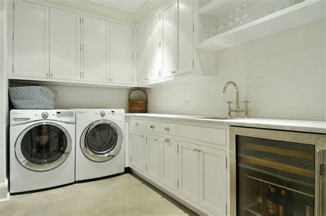 Laundry Room Pantry washer and dryer in butlers pantry transitional laundry room hummel