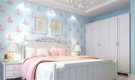 light blue walls white lighting in bedroom interior design