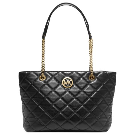 Michael Kors Fulton Quilted michael kors fulton quilted large east west tote in black lyst