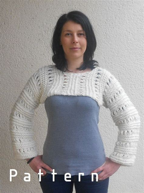 knit sweater shrug pattern knitting pattern for the white cropped sweater shrug