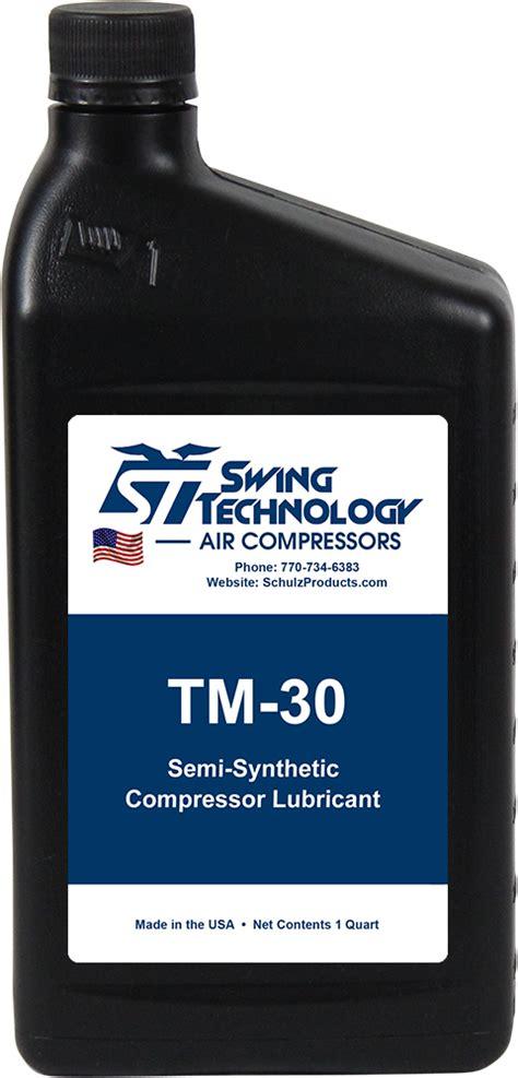 air compressor oil tm  semi synthetic  quart swing