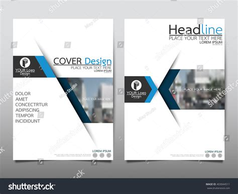presentation layout cover blue annual report brochure flyer design stock vector