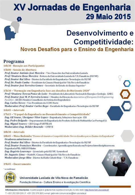 Calendario Escolar Engenharia Uminho Xv Jornadas De Engenharia Quot Desenvolvimento E