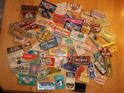 How To Make Rolling Paper - dude check out my 1970s rolling paper collection