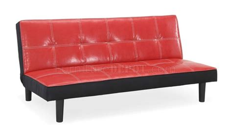 Sofa Bed Poly bicast modern convertible sofa bed w plastic legs