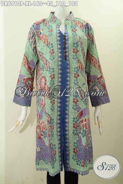 Baju Xl dress batik size xl baju batik kerja wanita dewasa bahan halsu pakai kancing banyak untuk