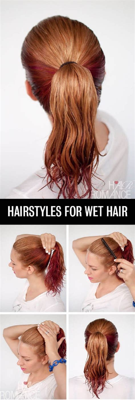 everyday hairstyles for wet hair best 25 wet hair hairstyles ideas on pinterest quick