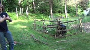Rustic garden fence youtube