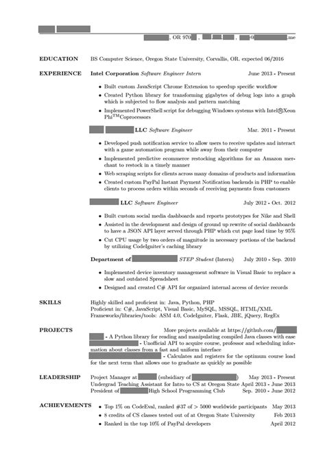 Resume Exles For Highschool Dropouts Doc 550711 Project Management Resume Bizdoska