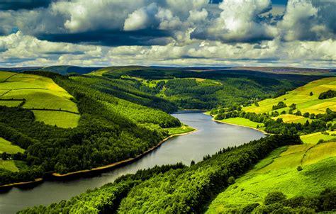 wallpaper green view wallpaper uk 4k hd wallpaper hills river trees sky