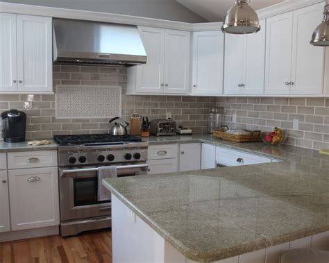 Farmhouse Kitchen Countertops by Farmhouse Granite Kitchen Countertops Home Design Photos