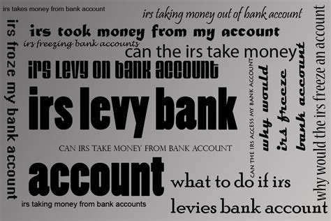 irs bank levy taxes 177 credits and finances