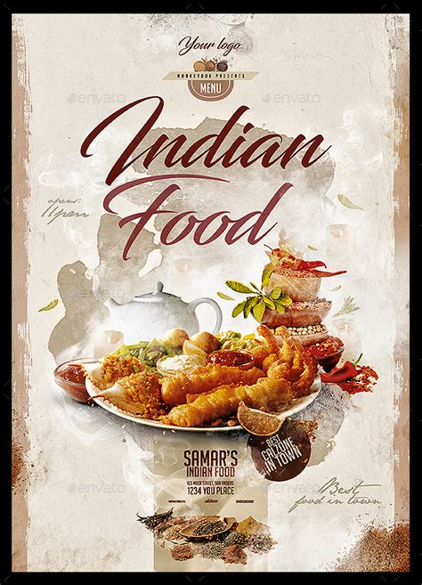 indian food menu  monkeybox graphicriver