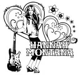 Hannah Montana Coloring Pages sketch template