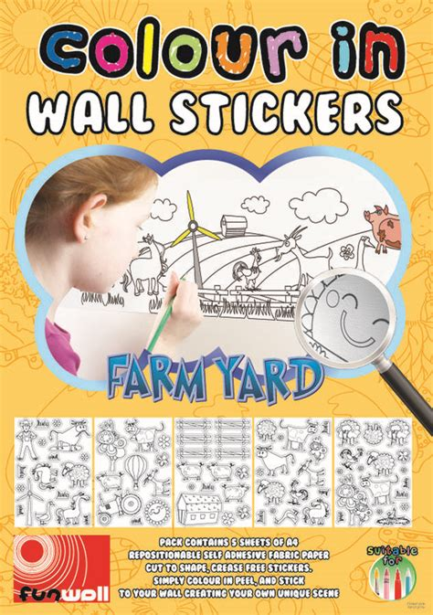 farmyard wall stickers colour in wall stickers by funwall notonthehighstreet