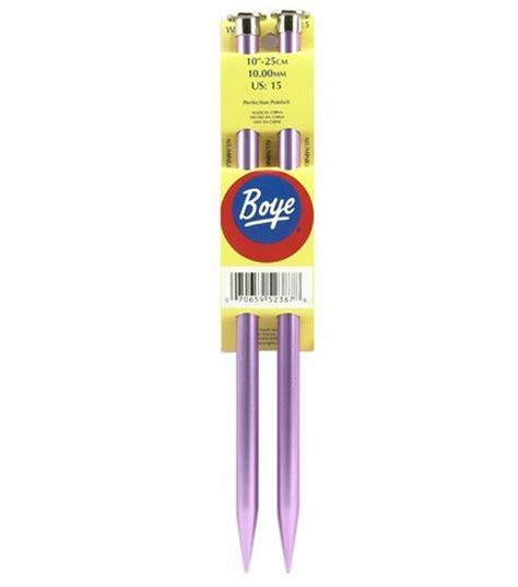 boye knitting needles boye single point aluminum knitting needles 10 quot size 15