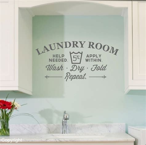 room decals laundry room vinyl wall decal sticker large