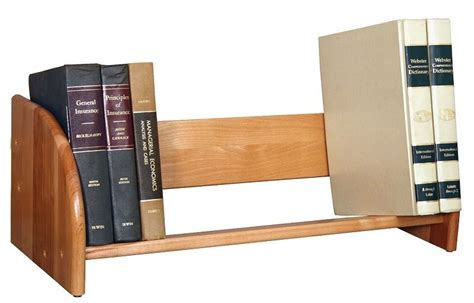 wood book rack holder shelf storage bookcase desk stand