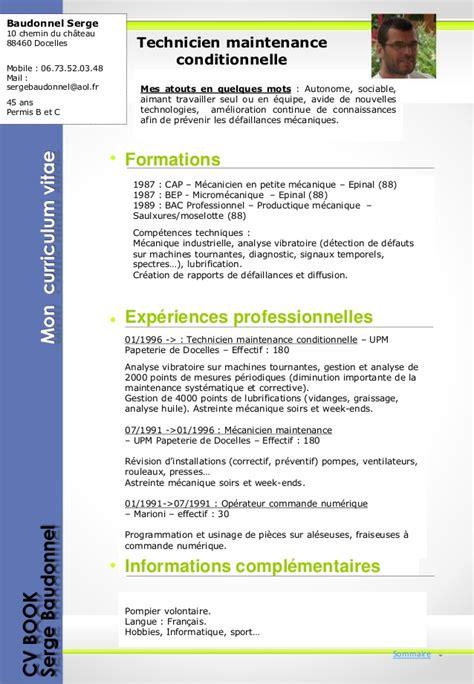 cv technicien de maintenance informatique ccmr