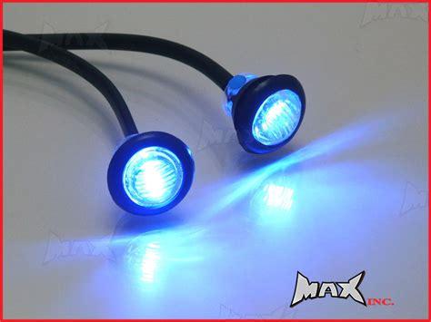 flush mount led lights 12v blue 12v round flush mount led mini marker lights ebay