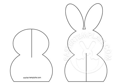 3d Easter Card Templates by 3d Paper Easter Bunny Easter Template