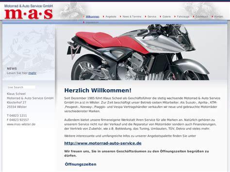 Suzuki Motorrad Händler Schleswig Holstein by M A S Motorrad Auto Service Gmbh Scheel In Wilster