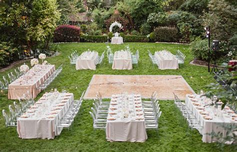 layout for backyard wedding outdoor wedding long tables archives weddings romantique