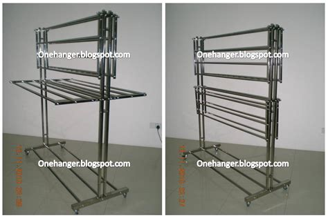 Penyidai Baju In penyidai baju aian moden stainless steel heavy duty free standing clothes hanger