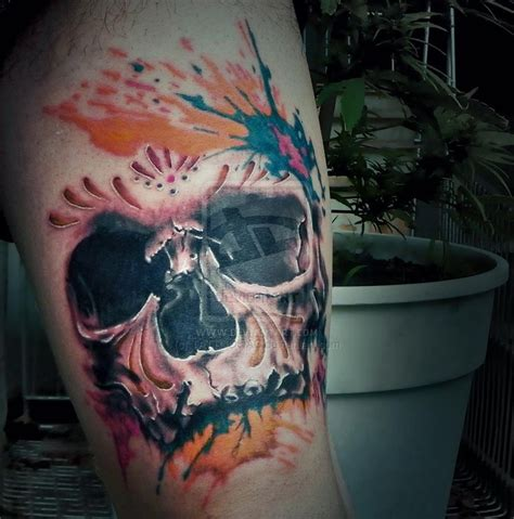 realistic skull tattoo realistic skull by tattooqac on deviantart