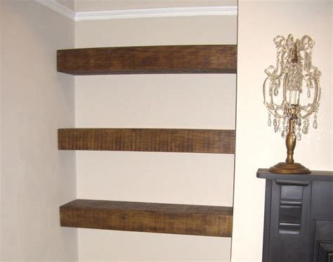 Rustic Floating Shelf Next To Fireplace Tv And Shelves Next To Fireplace